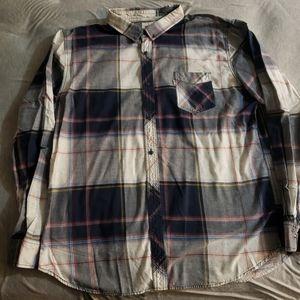 Levi's Plaid Blue Button Down Flannel 3XL XXXL MEN